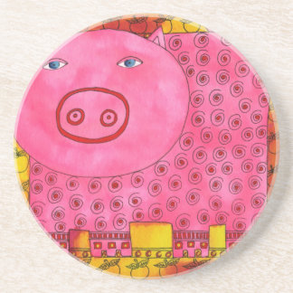 Patterned Pig Coaster