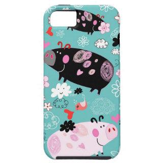 Patterned Piggies iPhone 5 Case