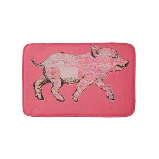 Patterned Piggy Bath Mat