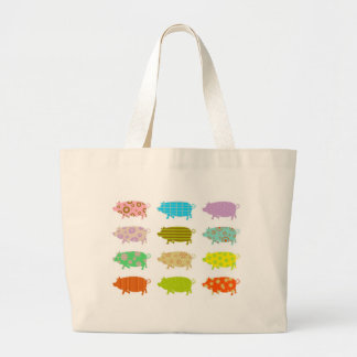 Patterned Pigs Jumbo Tote Bag