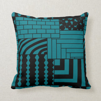 Patterned Rectangles Throw Pillow