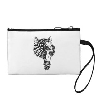 Patterned Roar Key Coin Clutch Change Purses