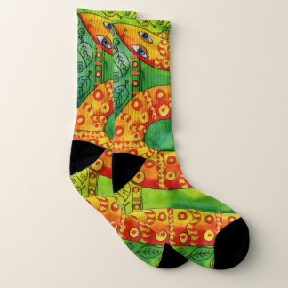 Patterned Snake Socks