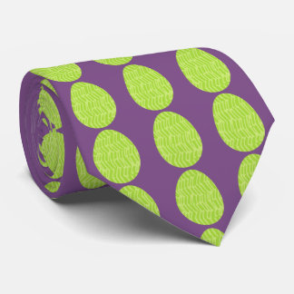 Patterned Spring Green Easter Eggs Tie