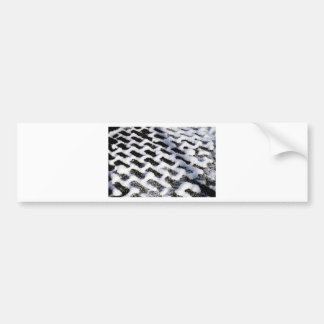 patterned walkway bumper sticker