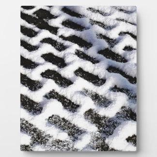 patterned walkway plaque