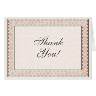 Patterns & Borders 1 Thank You Note Card