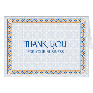Patterns & Borders 2 Thank You For Your Business Note Card