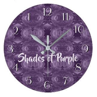 Patterns in Purples Backward Clock