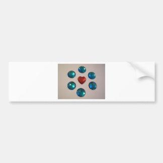 Patterns of color bumper sticker