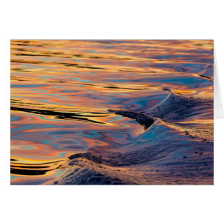 Patterns of Reflected Sunset in Boat Wake Card