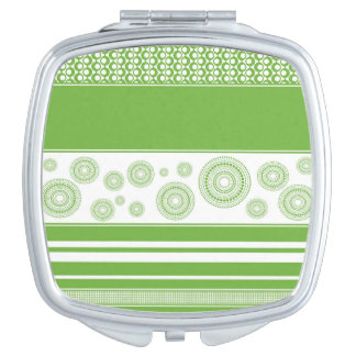 Patterns, Stripes & Circles: 2017 Pantone Greenery Vanity Mirror