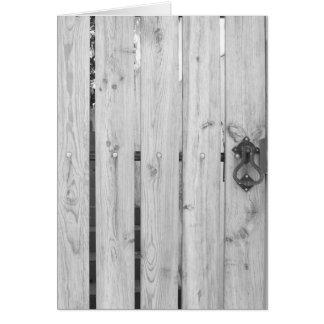 Patterns & Textures Greeting Cards - Wooden Door