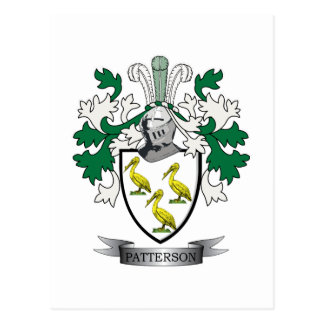 Patterson Family Crest Coat of Arms Postcard
