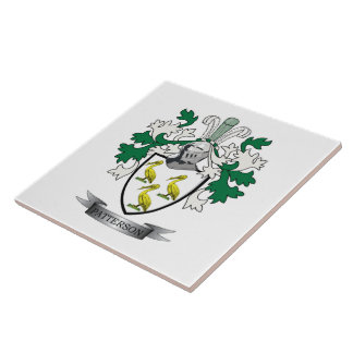 Patterson Family Crest Coat of Arms Tile