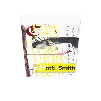 Patti Smith Calligraphy 1 Canvas Print