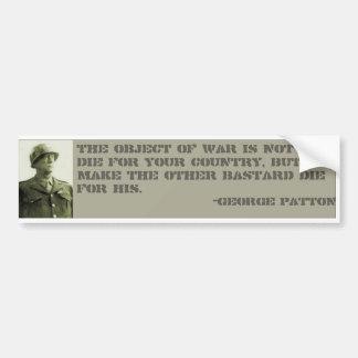 Patton Bumper Sticker