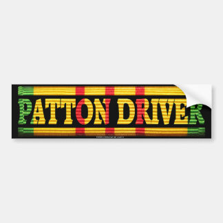 Patton Driver Vietnam Service Bumper Sticker