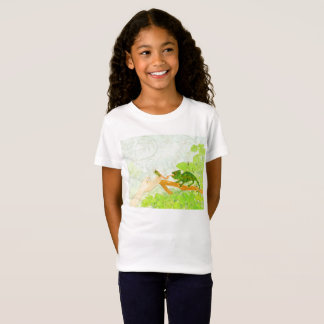 Patty and the Pet Shop Owners Apron Girls Ringer T T-Shirt