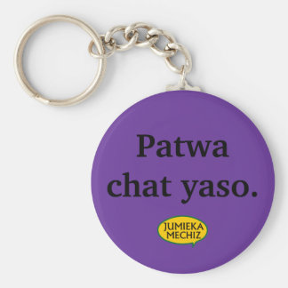 Patwa chat yaso basic round button keychain