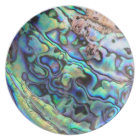 Paua abalone shell detail plate