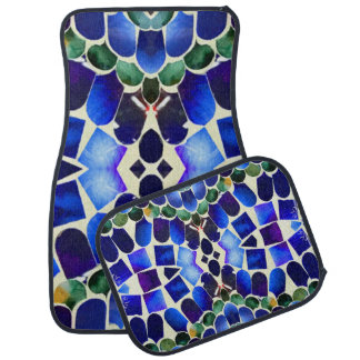 Paua Aqua Forest Car Mat