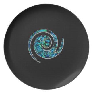 Paua design Plate