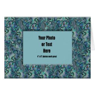 Paua Shell Frame - Customizable Card
