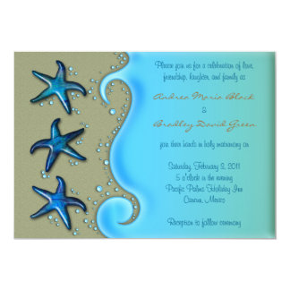 Paua Shell Starfish Wedding Invitation