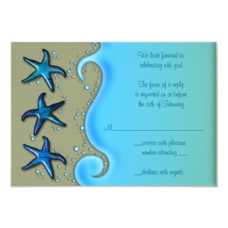 Paua Shell Starfish Wedding Reply RSVP Card