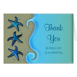 Paua Shell Starfish Wedding Thank You Card