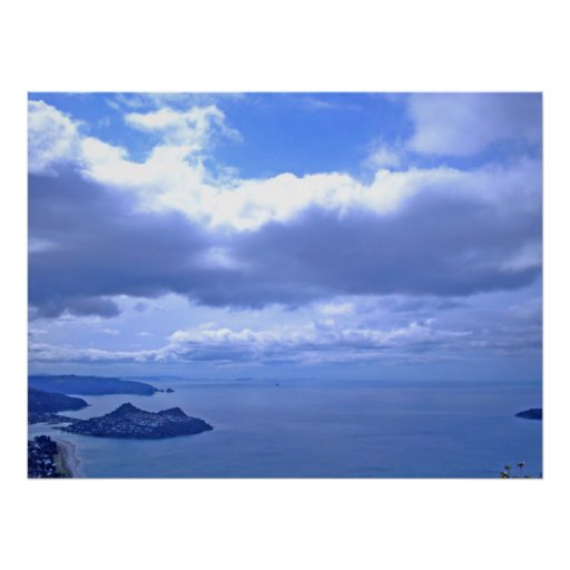 Pauanui Looking North to Mt Paku Poster