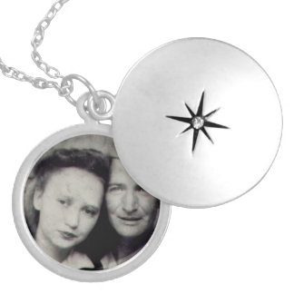 Paul and Estelle army picture necklace
