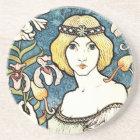 Paul Berthon Salon Des Cent Vintage Art Nouveau Coaster