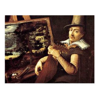 Paul Bril: Self-Portrait, 1600 Postcard