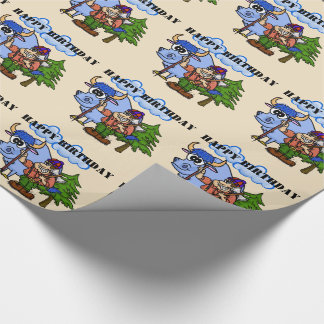 Paul Bunyan and Babe The Blue Ox Gift Wrap