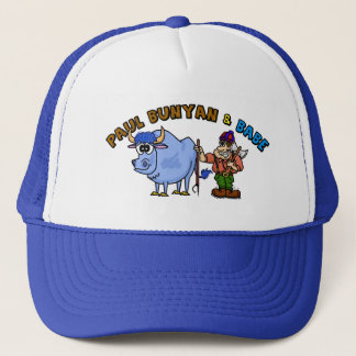 Paul Bunyan and Babe Trucker Hat Ver. 2