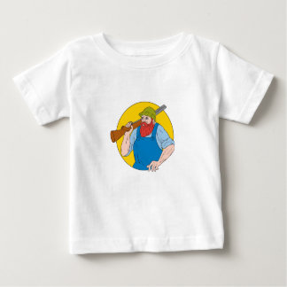 Paul Bunyan the Hunter Circle Drawing Baby T-Shirt