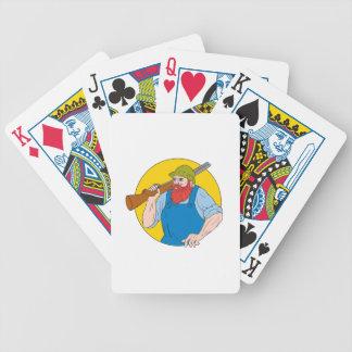 Paul Bunyan the Hunter Circle Drawing Poker Deck