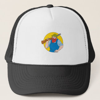 Paul Bunyan the Hunter Circle Drawing Trucker Hat