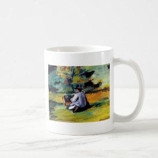 Paul Cezanne A Painter at Work impressionist art Basic White Mug