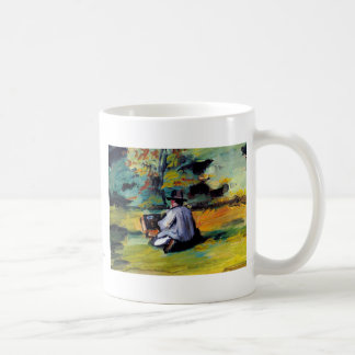 Paul Cezanne A Painter at Work impressionist art Classic White Coffee Mug