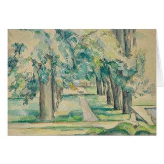 Paul Cezanne - Avenue of Chestnut Trees Card