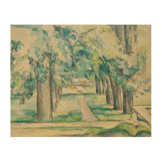 Paul Cezanne - Avenue of Chestnut Trees Wood Canvas