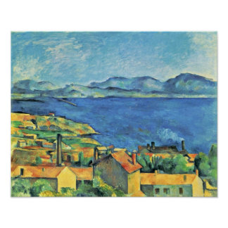 Paul Cezanne - Bay of Marseilles from LEstaque Poster