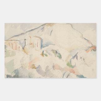 Paul Cezanne-Chateau Noir and Mont Sainte-Victoire Sticker