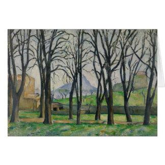 Paul Cezanne - Chestnut Trees at Jas de Bouffan Card