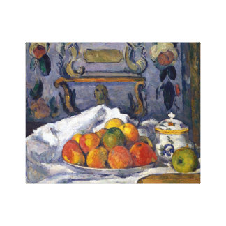 Paul Cezanne Dish of Apples Canvas Print