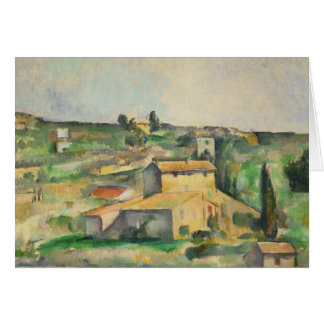 Paul Cezanne - Fields at Bellevue Card