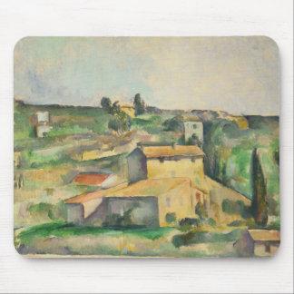 Paul Cezanne - Fields at Bellevue Mouse Pad